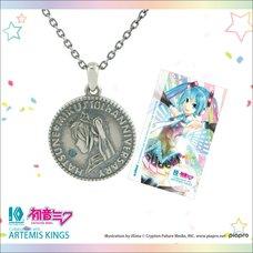 Hatsune Miku 10th Anniversary Oxidized Coin Pendant