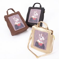 FLAPPER Rabbit Portrait 2-Way Tote