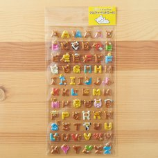 Rilakkuma Alphabet Stickers
