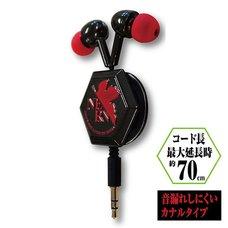 Rebuild of Evangelion NERV Logo Diecut Reel Stereo Earphones