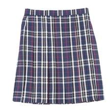 Teens Ever Navy Blue x White High School Uniform Skirt
