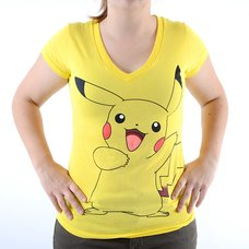 Pokémon Pikachu Juniors' Yellow V-Neck T-Shirt
