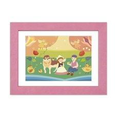 """""""Odayaka na Haru no Hi"""" Chara Fine Graph Dina*Dina Masterpiece Pictures Print"""