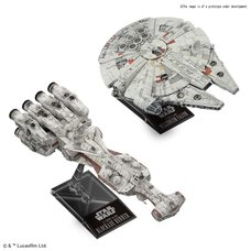 Star Wars 1/1000 Blockade Runner and 1/350 Millennium Falcon