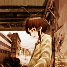 Yoshitoshi ABe 20th Anniversary Signed Premium Art Print - Unevenly Distributed Like Raindrops (Serial Experiments Lain: Another Version)