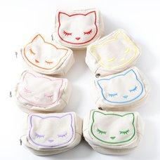 Osumashi Pooh-chan Canvas Embroidered Pouches