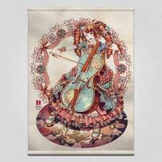 Flowers and a Cellist Tapestry