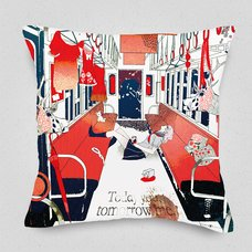 On the Railroad Cushion Cover