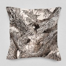 A Dragon and a Girl Cushion Cover