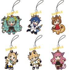 Vocaloid Kaiju B6 Rubber Strap Collection Box Set