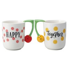 Concombre Cherry Mug Pair Set