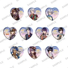 100 Sleeping Princes & the Kingdom of Dreams Heart-Shaped Pin Badge Box Set