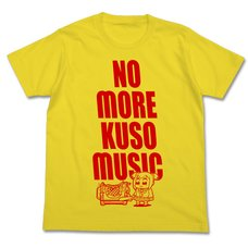 Pop Team Epic Kuso Music Yellow T-Shirt