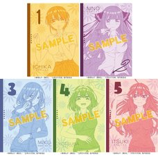 The Quintessential Quintuplets Character Notebook Collection