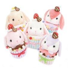 Pote Usa Loppy Cupcake Rabbit Plush Collection (Standard)