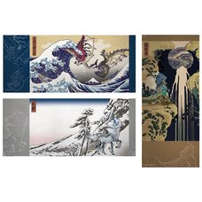 Monster Hunter Ukiyo-e Japanese Hand Towel Collection