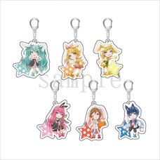 Hatsune Miku Otsukimi Party Chibi Acrylic Keychain Collection
