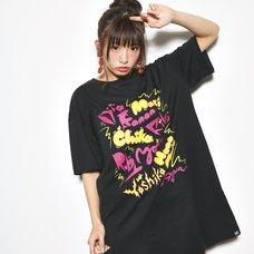 Love Live! Sunshine!! Aqours Members Black T-Shirt Dress