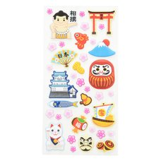 Souvenir Japan Puffy Stickers