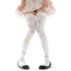 Zettairyoiki Colorful Band-Aid Thigh-High Tights