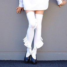 ERIMAKI SOX Frilly Knee-High Socks