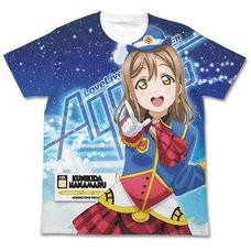 Love Live! Sunshine!! Hanamaru Kunikida Happy Party Train Ver. White Graphic T-Shirt