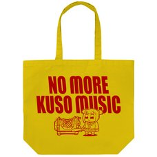 Pop Team Epic No More Kuso Music Yellow Large Tote Bag