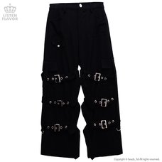 LISTEN FLAVOR Triple Belt Bondage Pants