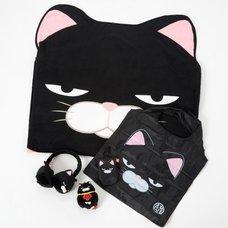 Hige Manjyu Kuromame the Grumpy Black Cat Set