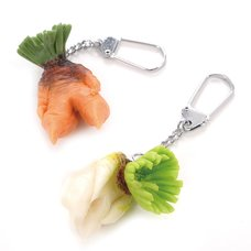 Depressed Vegetable Keychains
