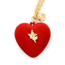 Q-pot. x Q-pid. Melty Heart Red Necklace