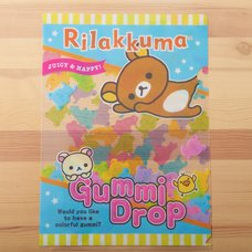 Rilakkuma Gummi Drop Clear File