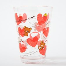 Lots of Hearts Rilakkuma Acrylic Cups