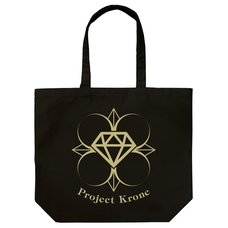 The Idolm@ster Cinderella Girls Project: Krone Large Black Tote Bag