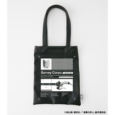 Attack on Titan R4G Survey Corps Black Tote Bag