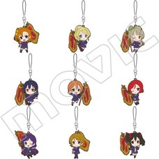 Love Live! School Idol Project Championship Flag Rubber Strap Collection Box Set