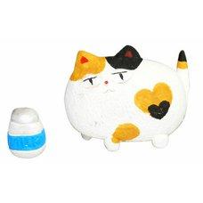 Mino Ware Cat & Milk