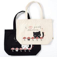 Osumashi Pooh-chan Mushrooms & Pooh-chan Tote Bags