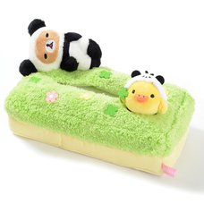 Rilakkuma Panda de Goron Plush Tissue Box Cover