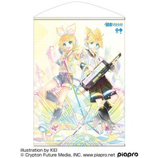 Kagamine Rin & Len 10th Anniversary B2-Size Wall Scroll: KEI Ver.