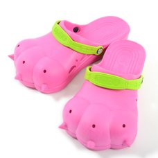 Akiba Sandals - Cherry Pink x Yellow-Green