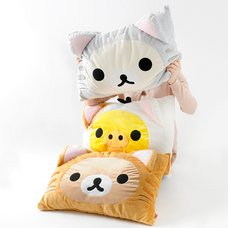 Nonbiri Neko Rilakkuma Fluffy Pillows