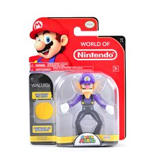 "World of Nintendo: Super Mario - Waluigi 4"" Figure"