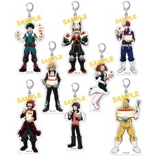 My Hero Academia Battle Cake Acrylic Keychain Collection