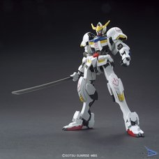 HG Orphans 1/144 Gundam Barbatos + Long Distance Booster Model Kit | Gundam Iron-Blooded Orphans