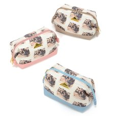 FLAPPER Mofu Neko Wide Zippered Pouch