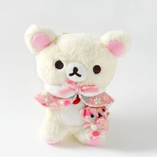 Korilakkuma Strawberry Flower Ball Chain Plush