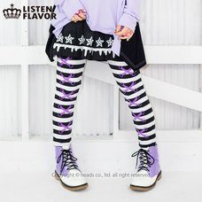 LISTEN FLAVOR Lace-Up Illusion Leggings
