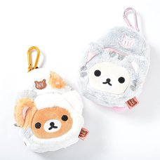 Nonbiri Neko Rilakkuma Plush Backpack Pouch