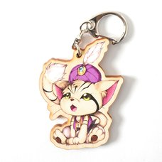Sindbad the Sand-cat Wooden Keychain